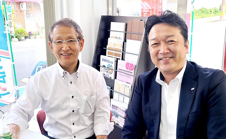 大家社長(左)と「家族信託の相談窓口」森久純