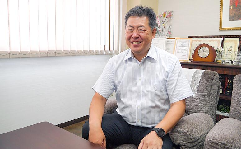 教職から不動産業界への転身を話す北嶋社長